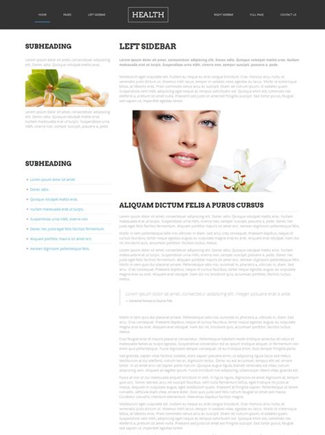 Dermatology Html Template Health Website Templates Dreamtemplate Dermatologist Website Templates