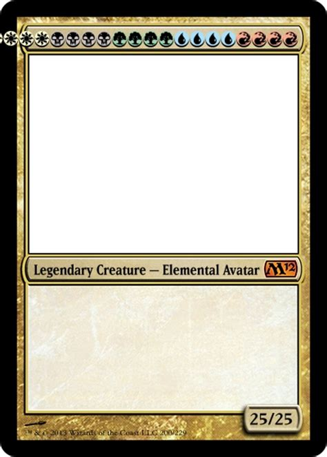Custom Mtg Card Template by Lets Make A 20 Drop Forum