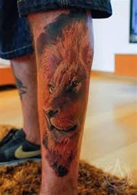 lion leg tattoo 36 looking tattoos for leg