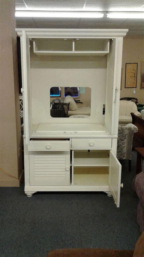 broyhill entertainment armoire broyhill white tv armoire delmarva furniture consignment