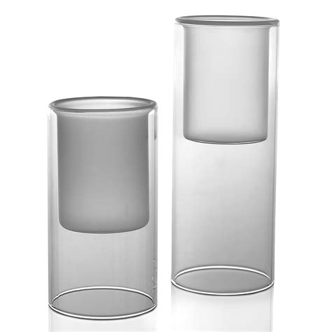 clear glass cylinder table l clear glass cylinder candleholders klw design