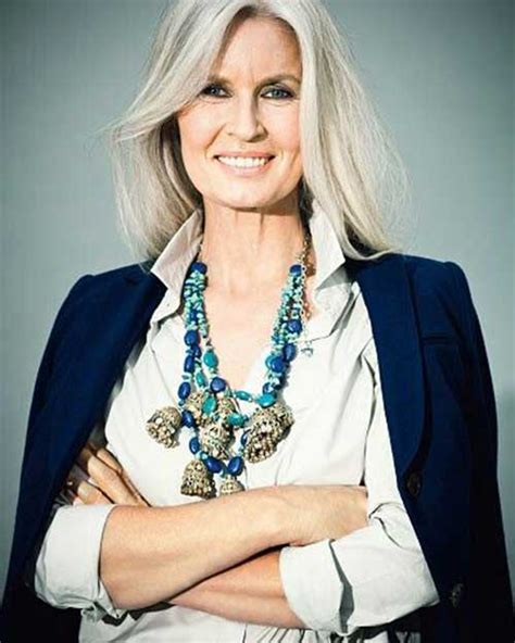 grey hair on mid length hair 20 best hair styles for older women long hairstyles
