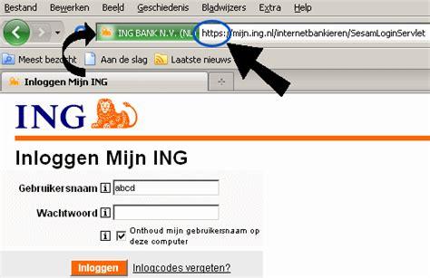 ing bank nl ing inloggen internetbankieren met mijn ing