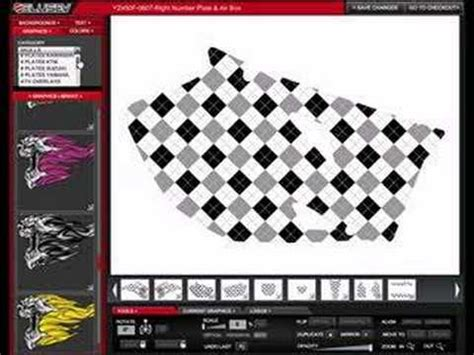 design your own motocross design your own mx atv sled graphics youtube