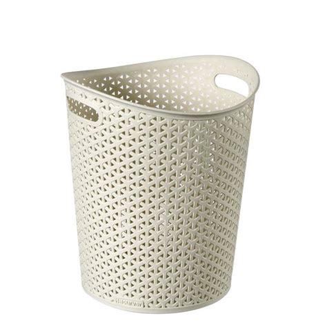 waste paper baslet curver waste paper bin vintage white 13l from ocado