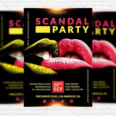 Scandal Party Premium Flyer Template Instagram Size Flyer Exclsiveflyer Free And Premium Instagram Flyer Template