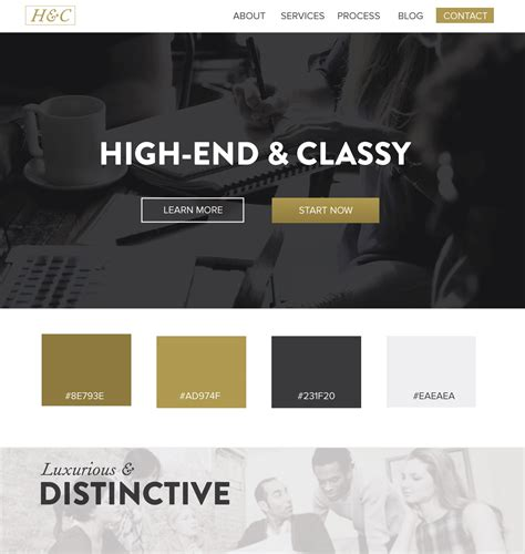 color palette ideas for websites 5 web design color palettes from black and gold websites