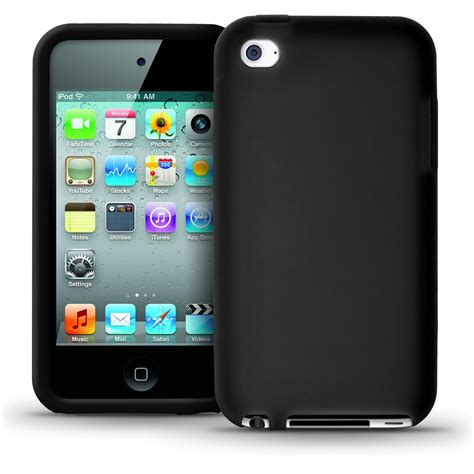 Softcase Ipod Tourch 4th Generation igadgitz black silicone skin cover for apple ipod