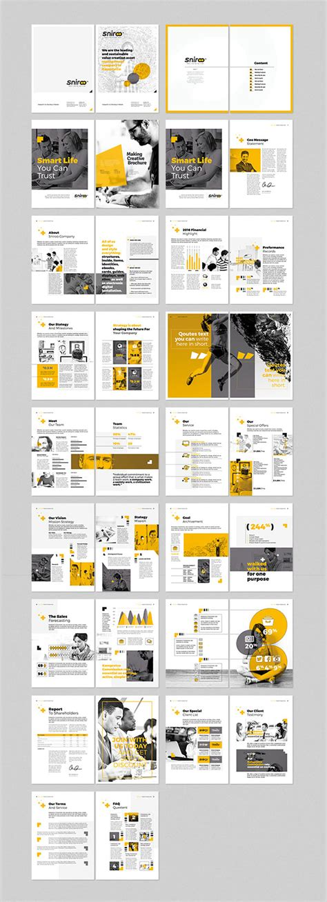 20 modern style brochure catalogue template design