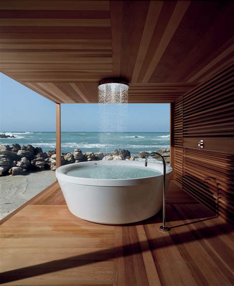 bathtub deck ideas 33 outdoor bathroom design and ideas inspirationseek com