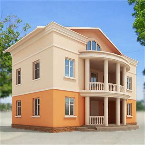 3d Model Small Town House 29 95 Buy Download