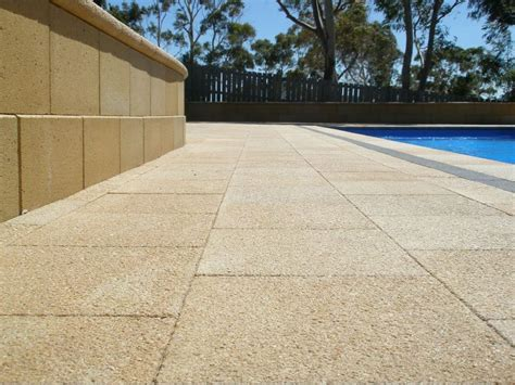 Exposed Aggregate Patio Stones by Exposed Aggregate Paving And Blocks Pavers For The Future