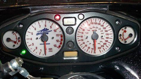 suzuki hayabusa gsxr mph kmh speedo meter clocks dials white coloured