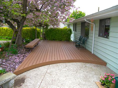 trex deck with curved edge albany tnt builders