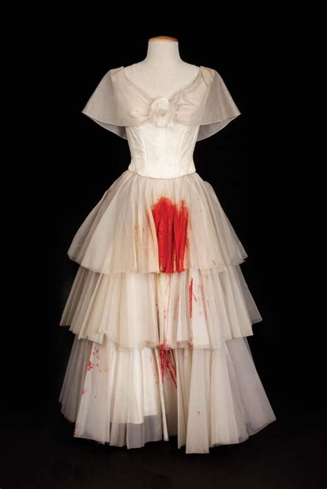 Mst Dress Angeline White bette davis ivory chiffon dress with simulated blood