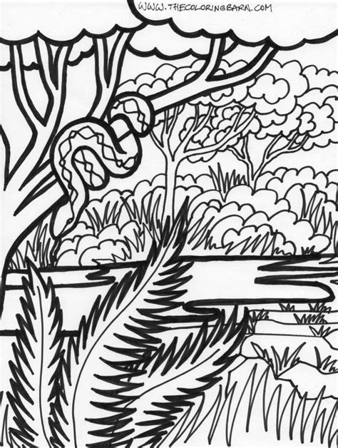 coloring pages of jungle scenes jungle coloring sheets coloring page jungle scene