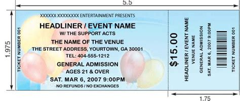 party tickets design create and print your own party tickets
