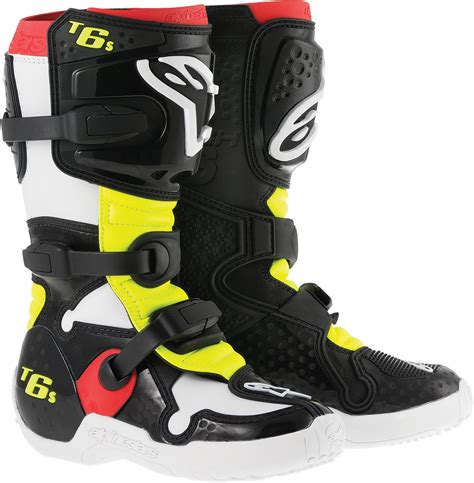 size 8 motocross boots alpinestars youth tech 6s dirt bike motorcycle boot kid