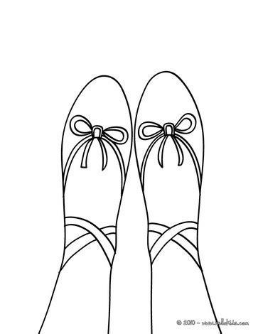 toe ballet shoe coloring pages hellokids com