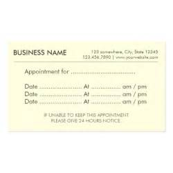 appointment business cards simple plain appointment reminder business cards