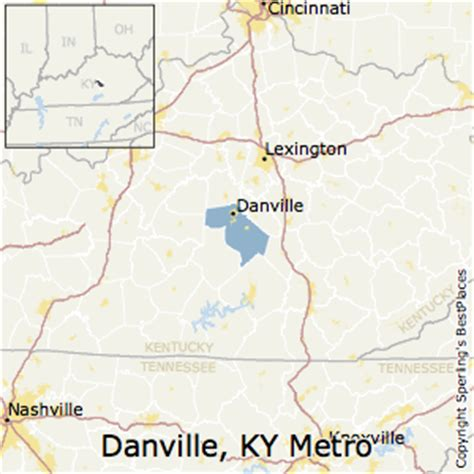 ky map danville best places to live in danville metro area kentucky