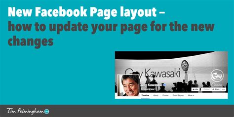 facebook layout update new facebook page layout how to update your page