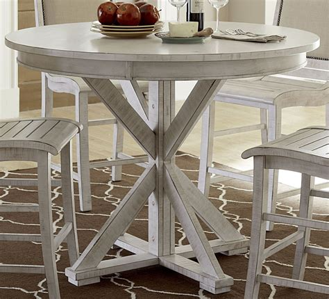 white counter height dining table willow distressed white counter height dining table