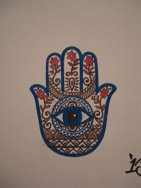 hand eye tattoo ink on hamsa hamsa and hamsa