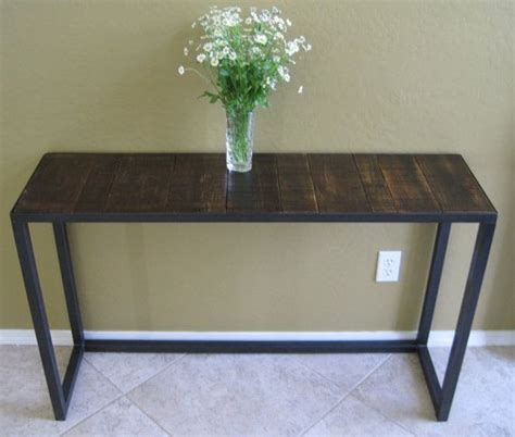 rustic modern console table sofa table display table