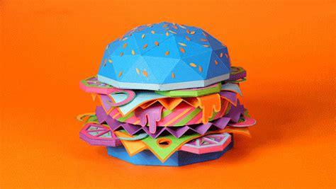 Burger Origami - hamburger jako origami kryt na iphone 芻i teniska