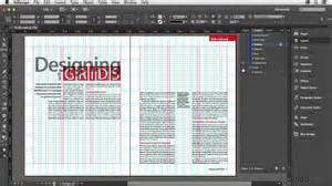 indesign grid template indesign tutorial the parts of a grid lynda
