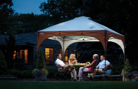 Outdoor Tent Lighting Cool Coleman 10x10 Canopy With Led Lighting System Canopykingpin