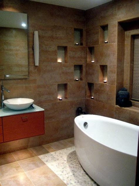 bathroom wall niche spa retreat