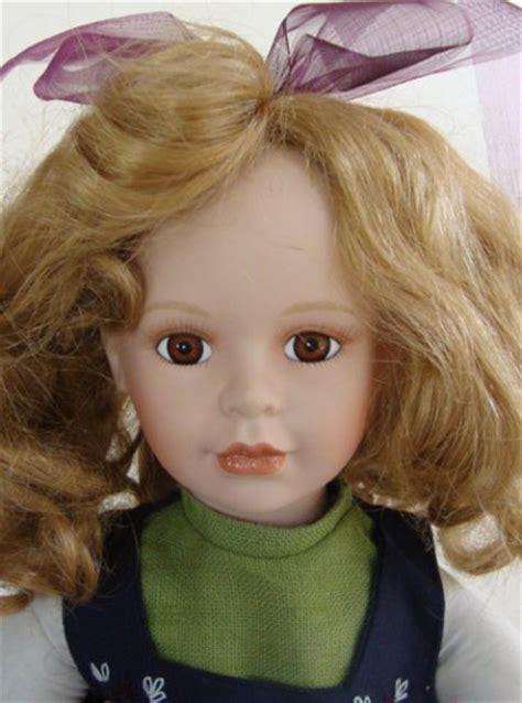 porcelain doll njsf vintage njsf 18 quot porcelain doll with embroidered linen