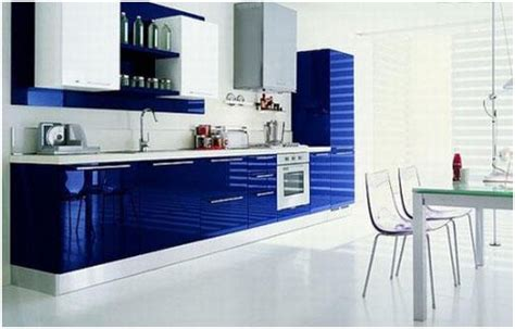 modern blue kitchen a kitchen of a different color essence design studios llc