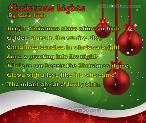 christmas poems and poetries for kids
