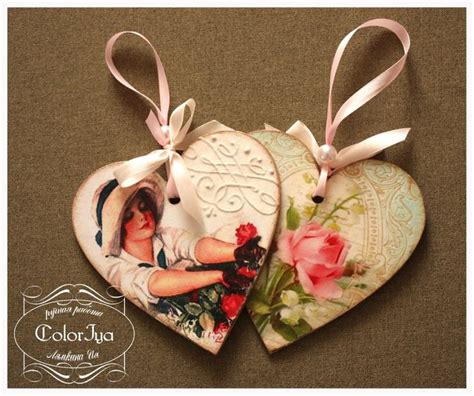 Decoupage Hearts - decoupage hearts corazones