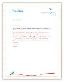 Ms Word Letterhead Templates by Letterhead Template Word Playbestonlinegames