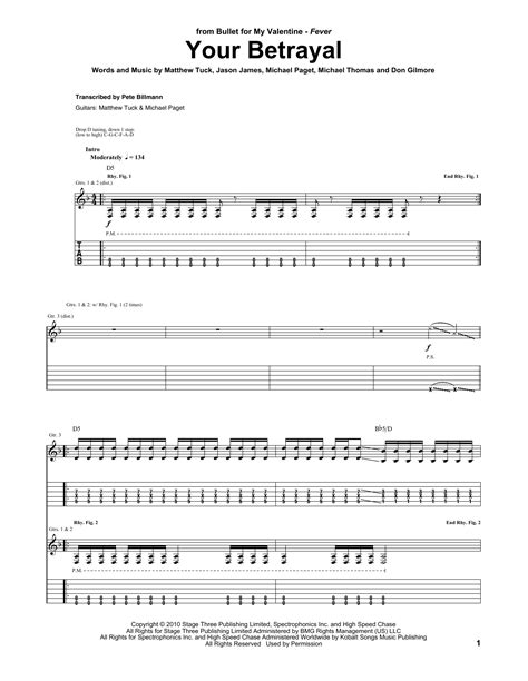 bullet for my tab your betrayal guitar tab by bullet for my