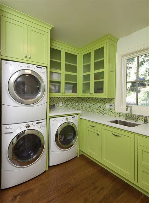 houzz laundry room how is the cabinet above the stacked washer and dryer
