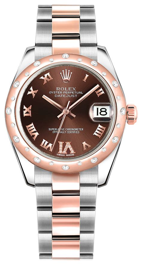 Rolex Oyster Datejust Rg Sepasang 178341 rolex datejust 31 steel gold