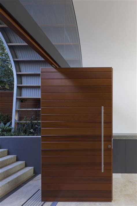 Timber Front Door Timber Front Door Contemporary Entry Sydney By Rudolfsson Alliker Associates Architects