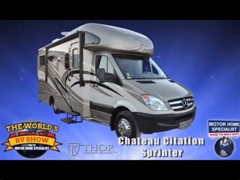 RV Reviews  New Mercedes Benz Sprinter Motorhomes by Thor (Best Diesel Class B Plus RV)   YouTube