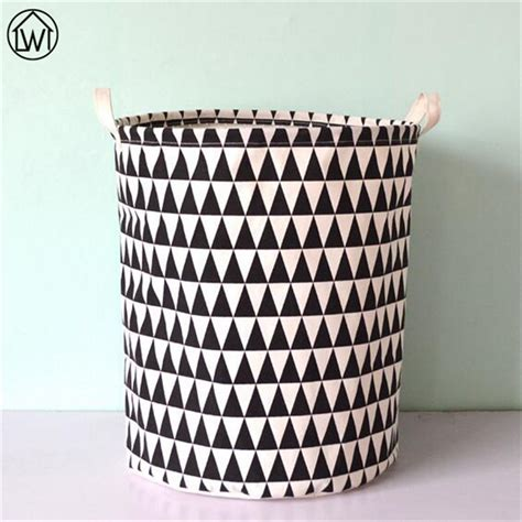 pattern fabric storage basket scandinavian 40x50cm canvas fabric foldable storage basket