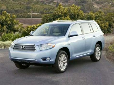2008 Toyota Highlander Hybrid Mpg 2008 Toyota Highlander Hybrid Models Trims Information