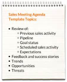 sales notes template sales meeting agenda templates