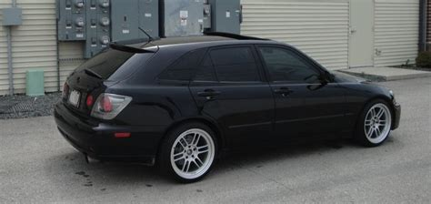 lexus is300 stance black fs ft lexus sportcross hatchback wagon is300 black and