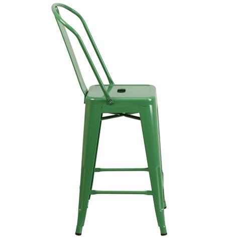 Green Metal Counter Stools by Buy 24 High Green Metal Indoor Outdoor Counter Height