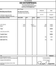 Free Gst Invoice Template by Gst Invoice Template Free Robinhobbs Info
