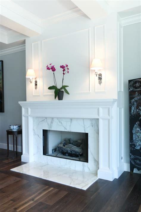 Living Room With Marble Fireplace Marble Fireplace In Transitional Living Room Hupehome